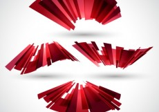 Free vector Polygonal ribbon in abstract style #19015