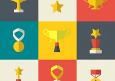 Free vector Prizes in flat design #17484
