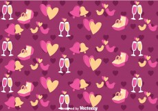 Free vector Purple Love and Wedding Vector Pattern #12768