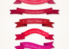 Free vector Quality ribbons in red tones #17557
