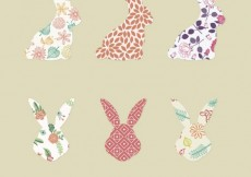 Free vector Rabbit silhouettes with patterns #17579