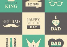 Free vector Retro fathers day badges #13100