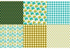 Free vector Retro Nature Pattern Set #14101