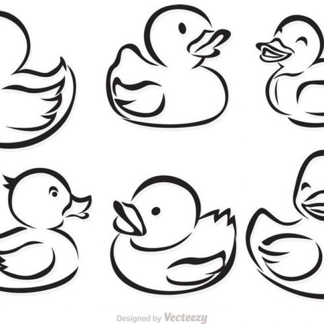 free vector rubber duck outline vectors 19307 my graphic hunt. Black Bedroom Furniture Sets. Home Design Ideas