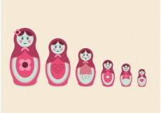 Free vector Russian Nesting Dolls Free Vector #19405