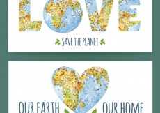 Free vector Save the planet banners pack #18709