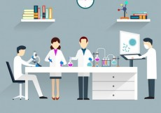 Free vector Scientists in lab #15356