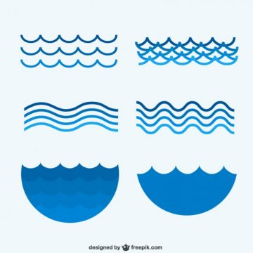 Free vector Sea waves collection #19828