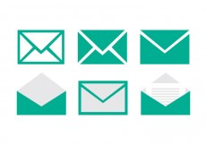 Free vector Set of email vector icons #18776