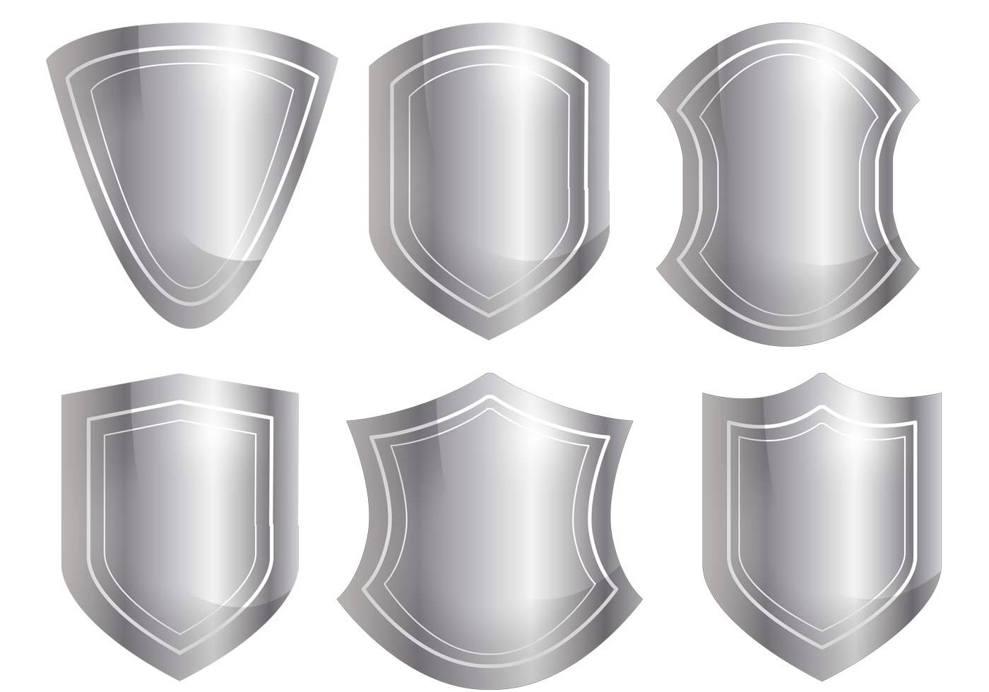 Free vector Shield Shape Vector Set #12348 | My Graphic Hunt