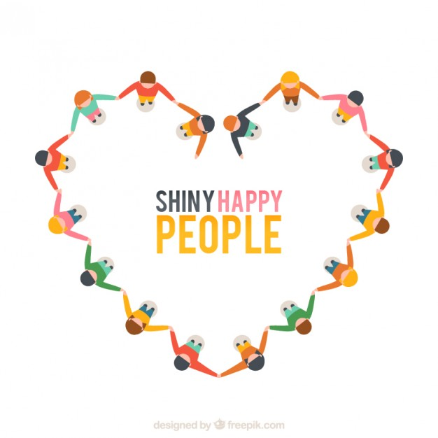 Free vector shiny happy people #13622 my graphic hunt