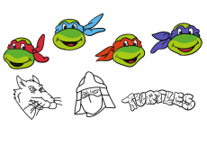 Free vector Simple Ninja Turtles Vectors #14563