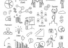 Free vector Sketchy business elements #18277
