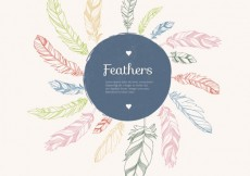 Free vector Sketchy feathers background #17165