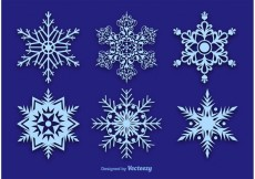 Free vector Snowflake Vector Decorations #19377