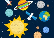 Free vector Solar system background #14287
