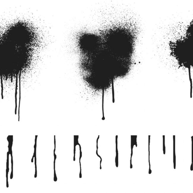 Spray Paint Drips Vector