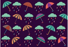 Free vector Spring Showers Pattern Vector #17396