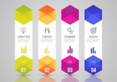 Free vector Stages to success infographic template #13148