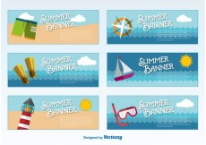 Free vector Summer Banners Templates #15307