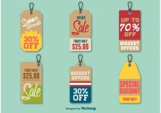 Free vector Summer Discount Price Tags #16199