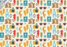 Free vector summer icons pattern #15050