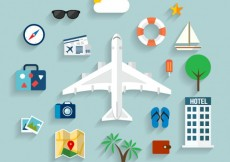 Free vector Summer travel icons #13290