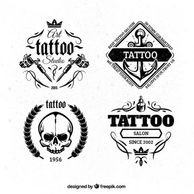 free vector tattoo badges 19786 my graphic hunt. Black Bedroom Furniture Sets. Home Design Ideas