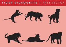 Free vector Tiger Silhouette Vector Free #13873