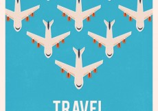Free vector Travel background with airplanes #12487