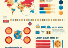 Free vector Traveling infographic template #13234