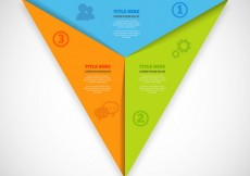 Free vector Triangular infographic template #16685