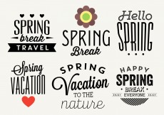 Free vector Typographic Spring Vector Labels #13085