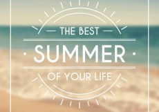 Free vector Typographical background for summer #15934