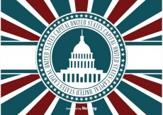 Free vector US Capital Retro llustration #17264