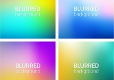 Free vector Variety of blurred backgrounds #19095