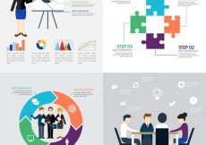 Free vector Variety of business infographics #15346