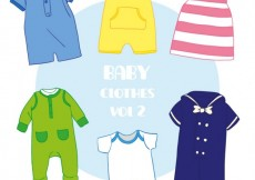 Free vector Variety of cute baby clothes #16467