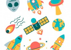 Free vector Variety of space icons #17480