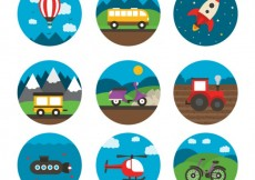 Free vector Variety of transport icons #18823