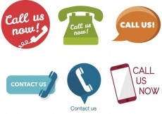 Free vector Various Call Us Now Icons #17439