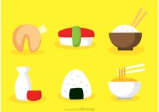 Free vector Vector Asian Food Flat Icons #17783