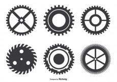 Free vector Assorted Cogwheel Shape Set #19112