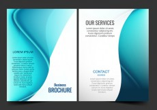 Free vector Blue business brochure #18834
