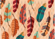 Free vector Vector Boho Feather Illustration #16940