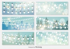 Free vector Christmas Lights Background #12848