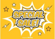 Free vector Comic Style Promotional Sale Background #16183