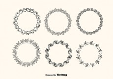 Free vector Vector Decorative Frames Set #15764