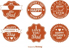 Free vector Father's Day Retro Badges #13227