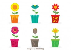 Free vector Vector Flowers In A Pot #14332